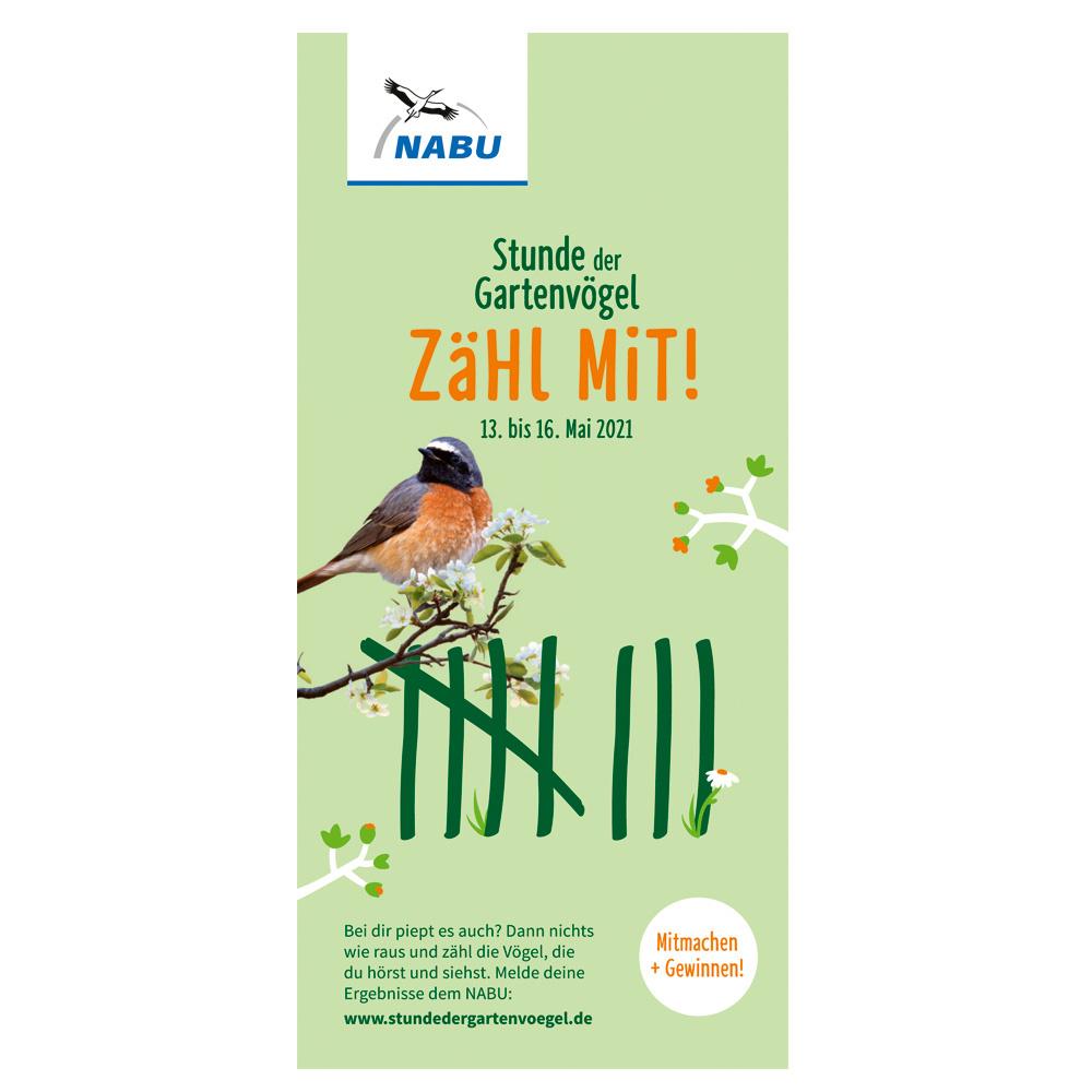 Faltblatt Stunde der Gartenvögel 2021